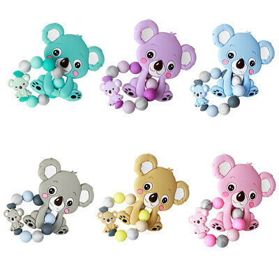 Baby Silicone Teether Beads Teething Bracelet Pacifier Chain Chew Toys Nursing