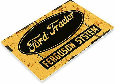 Ford Tractor Farming Rustic Tin Metal Decor Sign