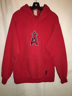 8b7b0e2fc Anaheim Los Angeles Angels of Anaheim Hoodie Embroidered Logos Cool Red MLB