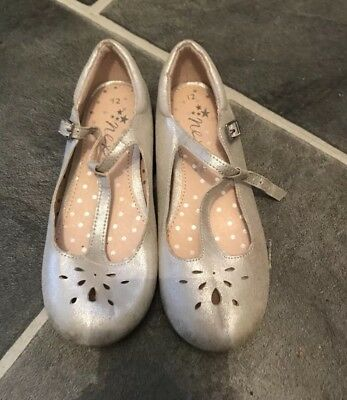 Girls Next Size 12 Silver Party Mary Jane Flat shoes