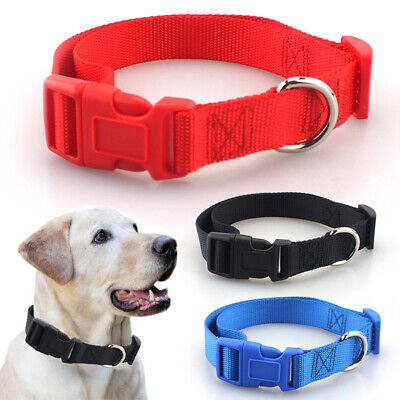 Dog Puppy Pet Collar Ancol Padded Nylon Adjustable Strong Handy Straps Fabric