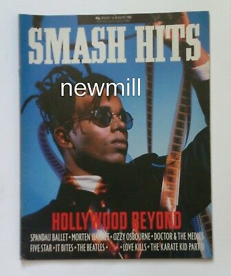 Smash Hits 1986 Hollywood Beyond Spandau AHA Ozzy Osbourne Beatles Karate Kid 3