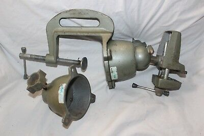 Vintage Colbert Die Cast Co. Panavise Model 311 w/ Bench Clamp Extra Holder