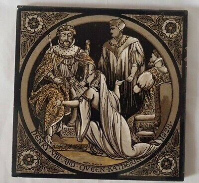 Minton Hollins Tile 'English History' 'Henry Viii' Moyr Smith, Circa 1875