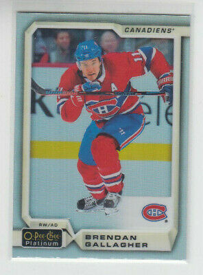 18/19 OPC Platinum Montreal Canadiens Brendan Gallagher Rainbow card #138