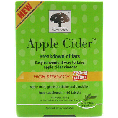 New Nordic Apple Cider Food Supplement High Strength 720mg - 60 Tablets