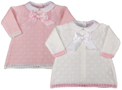 49f45e3cb BABY GIRL DRESS knitted Spanish style BOW - £12.99   PicClick UK