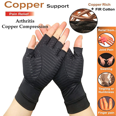 Copper Compression Arthritis Gloves Fit Carpal Tunnel Joint Pain for Men Women