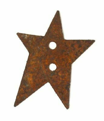 Rusted Metal Primitive Star Buttons - 100pcs