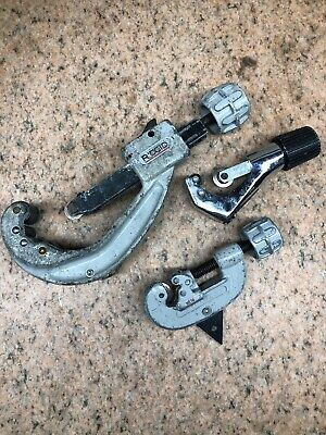 3 Tubing Cutters  Ridgid & Imperial  No. 152  No. 10  & TC 1000