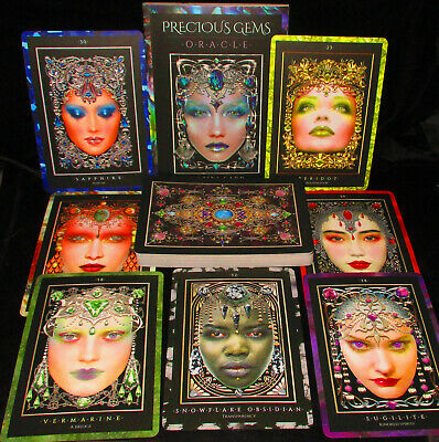 Sealed Brand New! Healing Precious Gems Oracle Cards & Book Exquisite Artwork