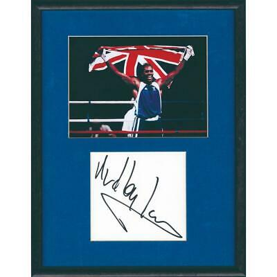 Audley Harrison - Autograph - Signature Mounted Black and White Photograph - Fra
