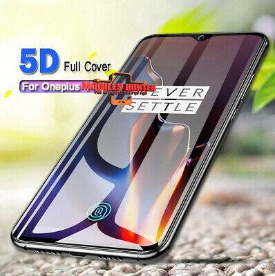 For OnePlus 6 5T Full Cover 5D Curved Edge Tempered Glass Film Screen Protector