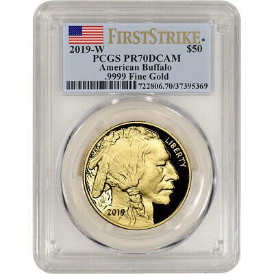 2019-W American Gold Buffalo Proof 1 oz $50 - PCGS PR70 DCAM First Strike