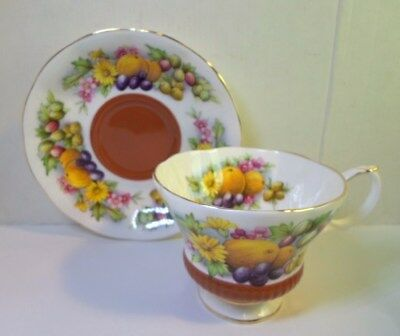 Royal Albert TEA CUP SAUCER - COUNTRY FAYRE DORSET Fruit Ptrn English Bone China