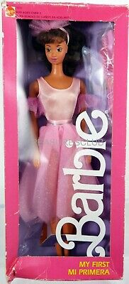 Mi Primera Barbie Doll Foreign #5979 New Never Removed from Box 1987 Mattel 3+