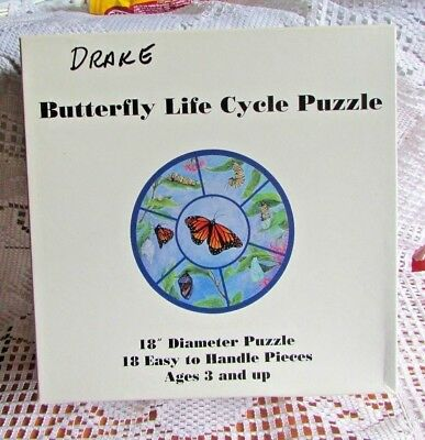 Vintage Butterfly Life Cycle Puzzle #543 Usa