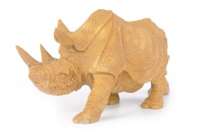 "8.46""Natural Miaze Yellow Jade Rhinoceroes Carving ,Hand-carved Crafts AR83"