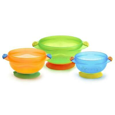 Munchkin Stay-Put Suction bowls, 3-Pack