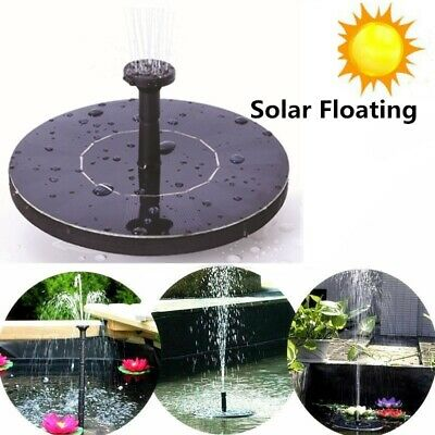 Solar Powered Floating Bird Bath Water Panel Fountain Pump Garden Pond Pool Hot