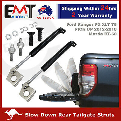 2 Rear Tailgate Shock Struts Slow Down for Ford Ranger PX XLT T6 Mazda BT50