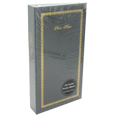 Photo Album - Holds 300 6x4 Photo's- Slot in Sleeves- Traditional Design - Black