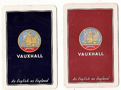 ENGLISH VAUXHALL CAR AD  Pair of Vintage Swap/Playing Cards