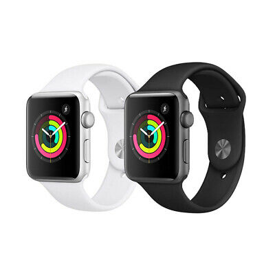 Apple Watch Series 3 (38/42mm GPS) Sliver/Gray Aluminium Case with Sport Band