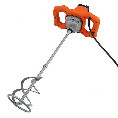 Paddle Mixer Drill Electric Cement Stirrer Plaster Mixing Plastering Whisk 1600W