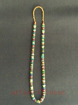 Collection Old China Tibetan Auspicious Coloured Glaze Prayer Beads Hand Chain
