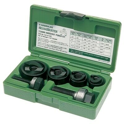 "Greenlee 7235BB 1/2"" - 1-1/4"" Conduit Size Manual Slug-Buster Knockout Punch Kit"