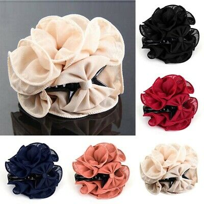 Large Rose Flower Hair Clip Hair Claw Clip Clamp Bow Jaw Clip Barrette Bridal UK