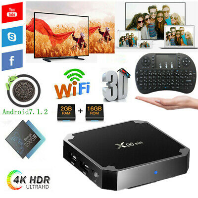 Lot X96 Mini S905W TV BOX 2G+16G Quad Core 2.4G WiFi Android 4K 3D Media Player
