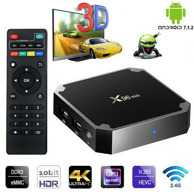 X96 Mini Android7.1.2 4K TV BOX Amlogic S905W Quad Core 3D 2.4GWiFi Meida Player