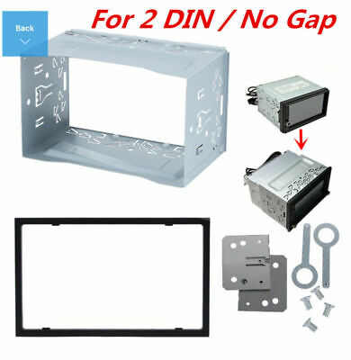 Universal Car Van Stereo Radio Double 2 Din Radio Panel Mounting Cage Frame DVD