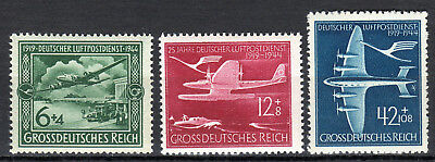 Germany / Reich - 1944 25 years airmail / Airplanes - Mi. 866-68 MNH