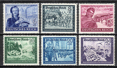 Germany / Reich - 1944 Comradship smaller size - Mi. 888-93 MNH