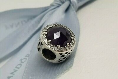 73bbd1048 Authentic Pandora Charm Royal Purple Radiant Hearts Charm 791725NRP