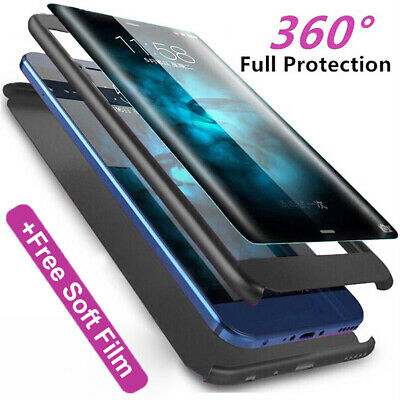 360 Slim Full Protective Armor Case Cover for Samsung Galaxy A50 A30 A10+9H Film