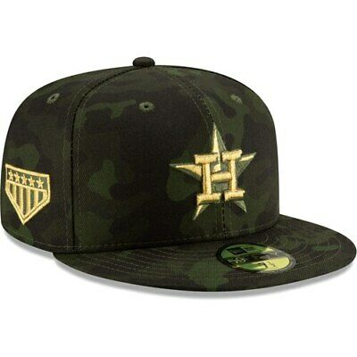 watch ebba2 029f9 Houston Astros New Era 2019 MLB Armed Forces Day On-Field 59FIFTY Fitted  Hat -