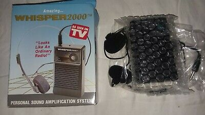 New Tempest Whisper 2000 Personal Sound Amplification Hearing 1989 Model WS-2000