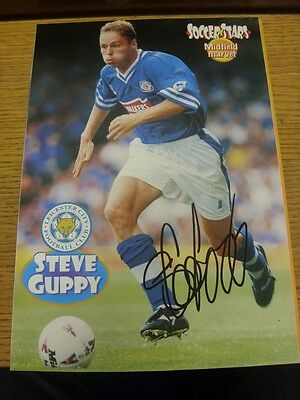 90-2000's Autographed Magazine Picture A4: Leicester City - Guppy, Steve. We try