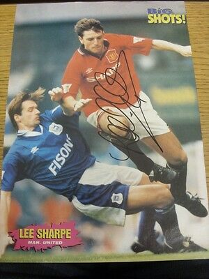 90-2000's Autographed Magazine Picture A4: Manchester United - Sharpe, Lee. We t