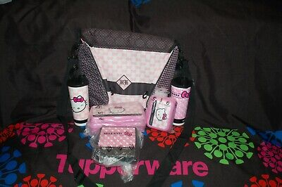 Tupperware 6 pc HELLO KITTY lunch set insulated bag/backpack tumbler sandwich