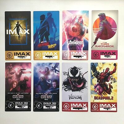 Marvel IMAX Ticket 8 Set - Venom Ant Man Deadpool Avengers Infinity War Endgame