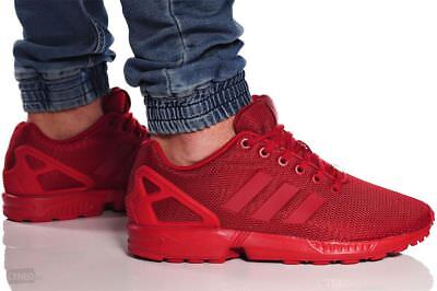 sports shoes 1dd5a 1ffed New ADIDAS Originals ZX Flux Casual Sneakers Mens triple red size 9