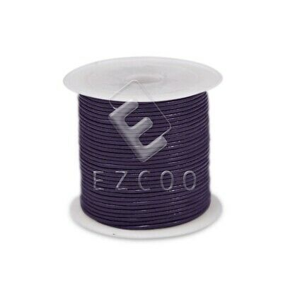 1 Roll 10M Real Leather Thread Cord Jewelry Beading Necklace Making 1mm Purple