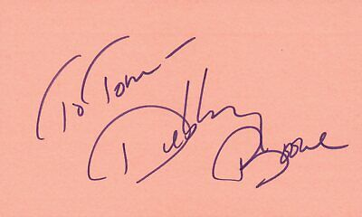Debbie Boone Singer Actress 1978 Pop Music Autographed Signed Index Card