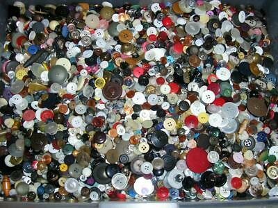 Lot 10 Lbs Vintage Sewing/Craft Buttons*Free Priority Shipping