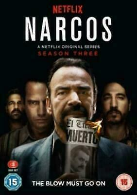 NARCOS SEASON 3 DVD Brand New and Sealed UK REGION 2 Free Fast Postage